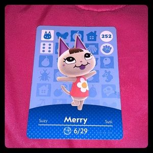 Animal crossing merry amiibo card